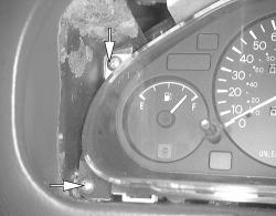 the speedometer and tachometer on my 1997 mitsubishi mirage