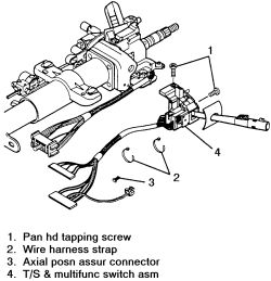 1e1uv Install Multifunction Switch 95 S10 Blazer on 1990 jeep wrangler horn wiring diagram
