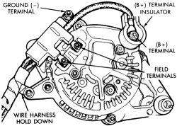 I have a 91 eagle summit and need help installing a alternator, do on oex alternator wiring diagram Ford Alternator Connections Inverter Wiring Diagram